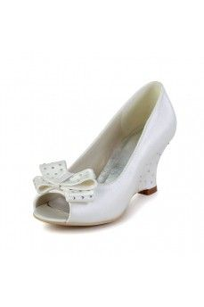 Satin Wedge Heel Wedges, Pumps Women's Shoes Ivory Wedding Shoes. Grab special discounts up to 70% Off at Abbydress with Discount & Voucher Codes.
