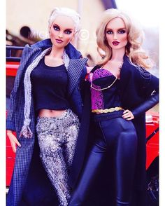 WEBSTA @ michaela_unbehau - Kingdom Doll Holly and Savile #glamaddict #toy #toys #toyphotography #toystagram #doll #model #couture #artphotography #makeup #body #style #vogue #stylish #fashion #cold #cool #portrait #blonde #instadaily #instagood #light #bright #outdoor #shape #sexy #redlips #makeup #smokyeyes #glam #barbie