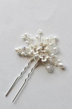 Bridal hair pin. Hair accessories. Wedding hair by ShesAccessories, $29.95