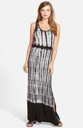 kensie 'Vertebrae' Dip Dye Tie Dye Maxi Dress
