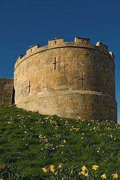 Robin Hood Tower, part of the York city walls Walls between Monk Bar and Bootham Bar. York, England