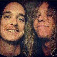 Cliff Burton and James Hetfield