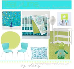 Teal and Lime Nursery Board