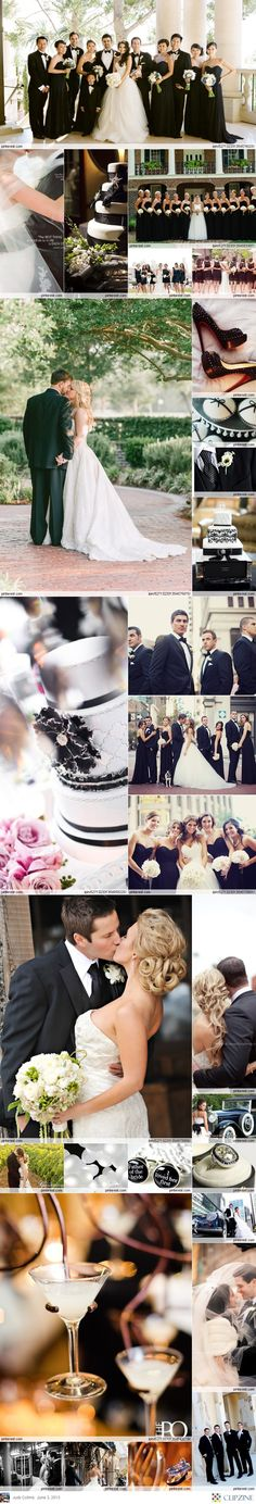 #black & white wedding ... Wedding ideas for brides, grooms, parents & planners!! Don't forget black and white personalized napkins for your special day! www.napkinspersonalized.com