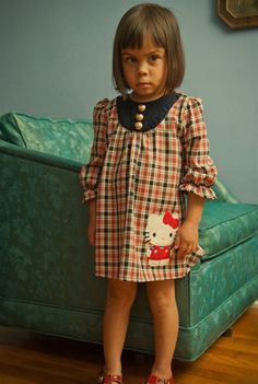 Misha Lulu - Retro-Modern Hello Kitty - Modern HK Dress  Size 8