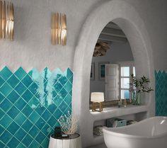 Baño. Revestimiento cerámico esmaltado tradicional. Imagen 3D fotorrealista. actua.es