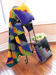 Graphic Blocks | Yarn | Free Knitting Patterns | Crochet Patterns | Yarnspirations
