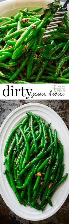Blog post at Healthy Seasonal Recipes : I'm calling this recipe Dirty Green Beans. It's steamed green beans tossed with fermented black beans (which are fermented and salted black [..]