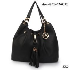 32eb0cadcfcb 2014 Newest Michael Kors Camden Drawstring Large Black Shoulder Bags Has  Distinct Style And High-Top Quality!