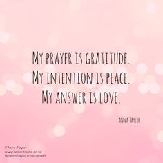 Prayer, Intention, and Love