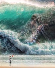 Release the Kraken! - Food Meme - Release the Kraken! The post Release the Kraken! appeared first on Gag Dad. Fantasy Creatures, Mythical Creatures, Octopus Art, Octopus Sketch, Octopus Mermaid, Arte Horror, Sea Monsters, Belle Photo, Amazing Art
