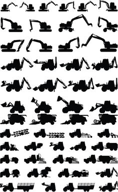 Collection machinery vector