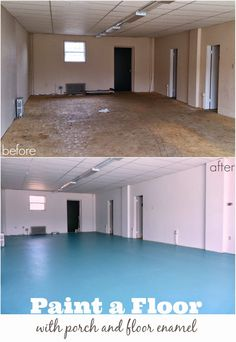 DIY Painted Particle Board Floor