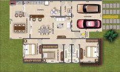 plantas de casas terreas 4 quartos - Pesquisa Google