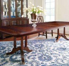 Thomasville Soliloque Double Pedestal Mahogany Table