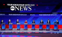 ABC News Democratic Debate Broadcast Set Design Gallery David Muir, George Stephanopoulos, Tv Set Design, Us Election, Abc News, Over The Years, Hold On, College, Gallery