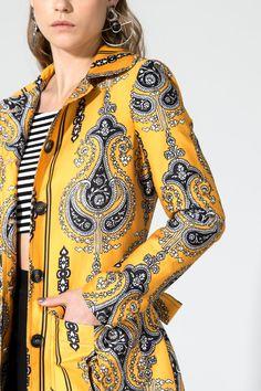Casaco Estampado Tuula - 02015213   Oh, Boy! - mobile Mixing Prints, Wrap Dress, Blazers, Jackets, Tops, Dresses, Fashion, Women's Work Fashion, Vestidos