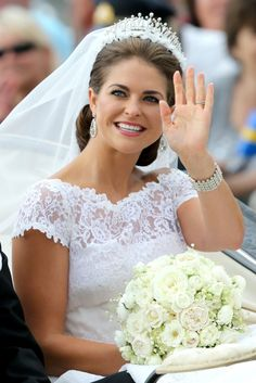 HRH Princess Madeleine on her wedding day to American Chris O'Neill 08.06.13