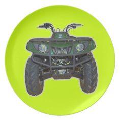 quad bike - atv party plates