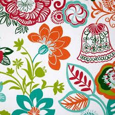 teal and orange fabric - Google Search