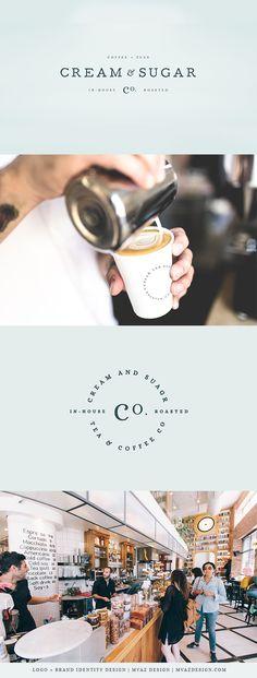 Cream & Sugar | Café Logo Design & Brand Identity | By MVAZ Design | www.mvazdesign.com