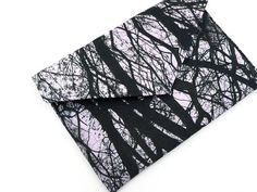 Handmade Tree Print Envelope Clutch Bag II from maxandrosie.co.uk