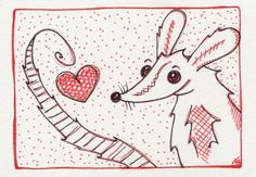 Original ACEO Im Your Nom by nightsparklies on Etsy, €10.00