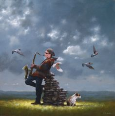 The wall  -  Jimmy Lawlor  Uit:  www.irishartinlondon.com: