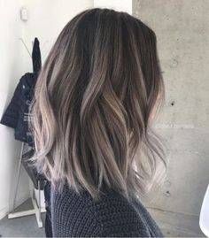 10 of the most stunning ash brown shades from to try this year. From smokey balayage to icy ombres we have all the ash brown here. Ash Brown Hair With Highlights, Ash Brown Hair Color, Ash Hair, Brown Blonde Hair, Light Brown Hair, Hair Highlights, Dark Brown, Color Highlights, Brown Hair Silver Ombre