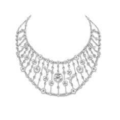 Diamond Necklaces : Theo Fennell white gold and diamond Cascade necklace (POA).