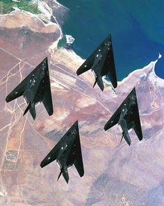 F-117A Nighthawks. http://www.pinterest.com/jr88rules/war-birds/ #Warbirds