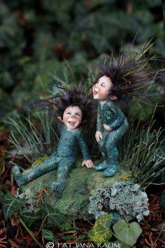laughing pixies artwork by Tatjana Raum