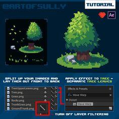 ArtStation - AfterEffects Pixel Animation Hack - Pixel Trees (Tutorial), Brendan Sullivan