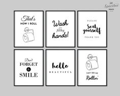 Funny Bathroom Art Printable Bundle Set Of 6