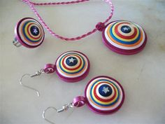 Paper necklace earrings and ring by neduk on Etsy, $12.00