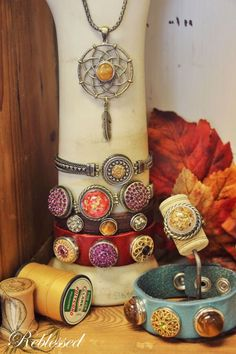 Fall layering doesn't have to end with your jackets and vests! Our  Gingersnap bracelets and necklaces look great when layered together or with other types of jewelry.