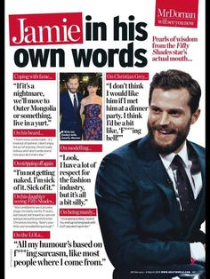 Jamie Dornan Article For Heatworld - Quotes, Scenes,Video,Soundtrack,Christian Grey - Fifty Shades Darker Movie