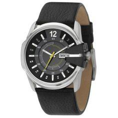 Relógio Diesel Watches Men's Black Not-So-Basic Basic Analog Black Dial Watch #Relogios #Diesel