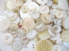 Collecting buttons should span a lifetime but if you can't wait to get started you can purchase a lot of buttons, vintage and even the jars. This is a good place to get started and they're affordable.