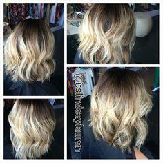 Thank you @lindsalauren :: Instagram @itslindsaylauren for my new #short #blonde #bayalage You are seriously talented sister!!