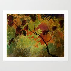 COLLAGE LOVE - Autumn Art Print by Ally Coxon - $20.00