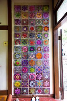 Installations @ danmala : mandala art