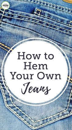 Aurora Sisneros presents new techniques for hemming your jeans. Learn helpful tricks to sewing through thick parts in the jean and find out how beneficial it can be to have a friend available to… Sewing Basics, Sewing Hacks, Sewing Tutorials, Sewing Tips, Sewing Ideas, Sewing Crafts, Fat Quarter Projects, Sewing Courses, Sewing Circles