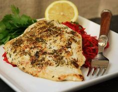 Lemon-Herb Chicken with Beet Carrot Turnip Slaw (omit pepper and pizza seasoning to make AIP-friendly)