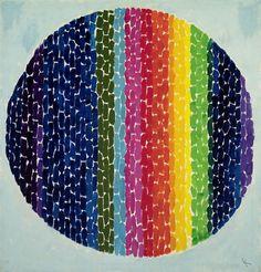 """Snoopy Sees a Daybreak on Earth,"" acrylic on canvas, Alma Woodsey Thomas, 1970"
