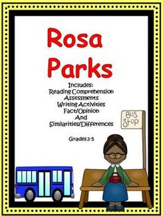 Rosa parks includes reading comprehension fact and opinion writing