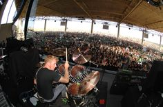 Brann Dailor of Mastodon. Quick tip for metal drummers: learn jazz! or at least prog rock, so you can play hard but still sound fluid & dynamic like this guy! And like all great drummers who play for the music not just doing beats, he can sing and write lyrics well.