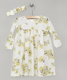 d51ca5b81 Loving this Ivory Wildflower Dress & Bow - Infant on #zulily!  #zulilyfinds