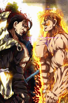 Escanor The One vs Zeldris Demon King Third Form M Anime, Otaku Anime, Anime Naruto, Anime Love, Anime Guys, Seven Deadly Sins Anime, 7 Deadly Sins, Meliodas Vs, Demon King Anime