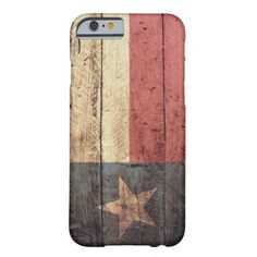 Old Wood Texas Flag iPhone 6 case